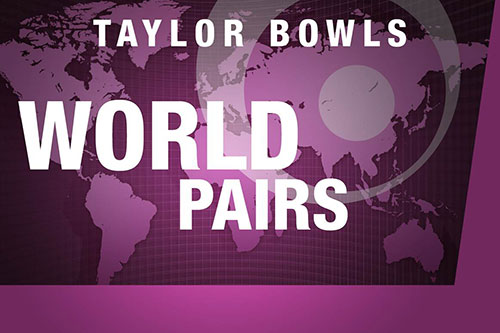 Liam Smith (l) & Peter Roberts after winning the Taylor Bowls World Pairs